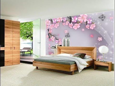 Wallpaper dengan motif bunga sakura